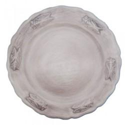Assiette faience plate taupe Les Cigales, Faïences Louis Sicard