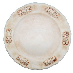 Assiette faience plate terre de sienne Les Cigales, Faïences Louis Sicard