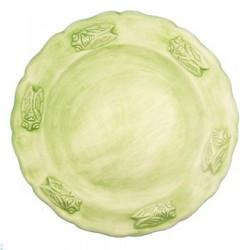 Assiette faience plate amande Les Cigales, Faïences Louis Sicard