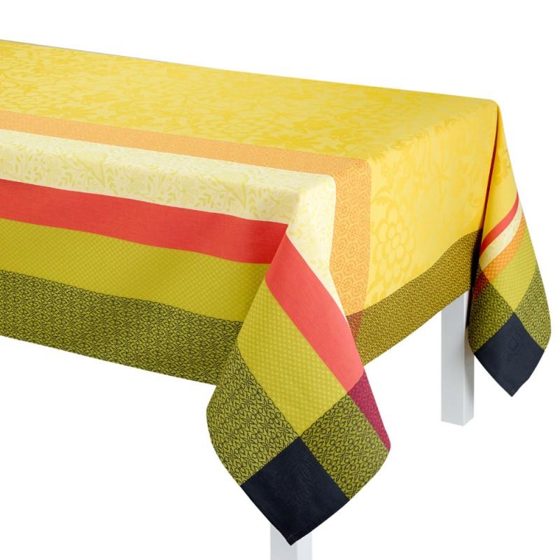 tissu enduit provencal nappe jaune. Black Bedroom Furniture Sets. Home Design Ideas