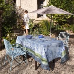 Nappe coton enduit Jardin de paradis Céleste Le Jacquard Français