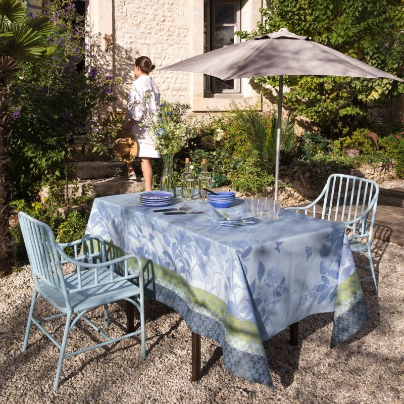 nappes enduites jardin campagne bleu. Black Bedroom Furniture Sets. Home Design Ideas