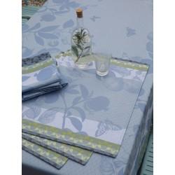 Set de table design enduit Jardin de paradis Céleste, Le Jacquard Français