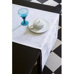 Chemin de table Azulejos Blanc, Le Jacquard Français