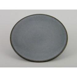 Assiette plate Tourron écorce, Jars Céramistes