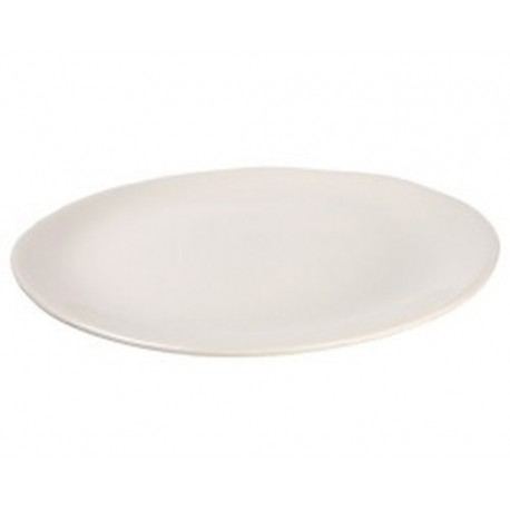 Assiette plate Maguelone Craie, Jars Céramistes