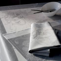 Nappe et serviettes de table Souffle Gris