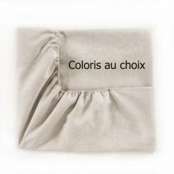 Drap housse uni pur lin Maine, Alexandre Turpault