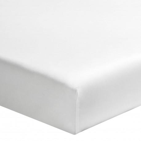 Drap housse uni percale de coton Royal Line Blanc