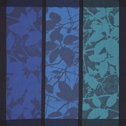 Serviettes de table Feuillage Cobalt LJF by Le Jacquard Français