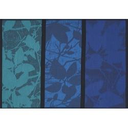Set de table design enduit Feuillage Cobalt, Le Jacquard Français