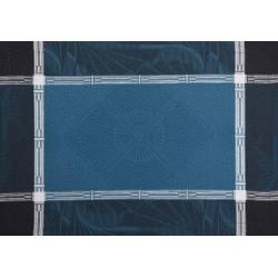 Sets de table coton et lin Palace Bleu Paon Le Jacquard Français