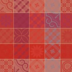 Serviettes de table Mille Tiles Terracotta Garnier-Thiébaut (par 4)