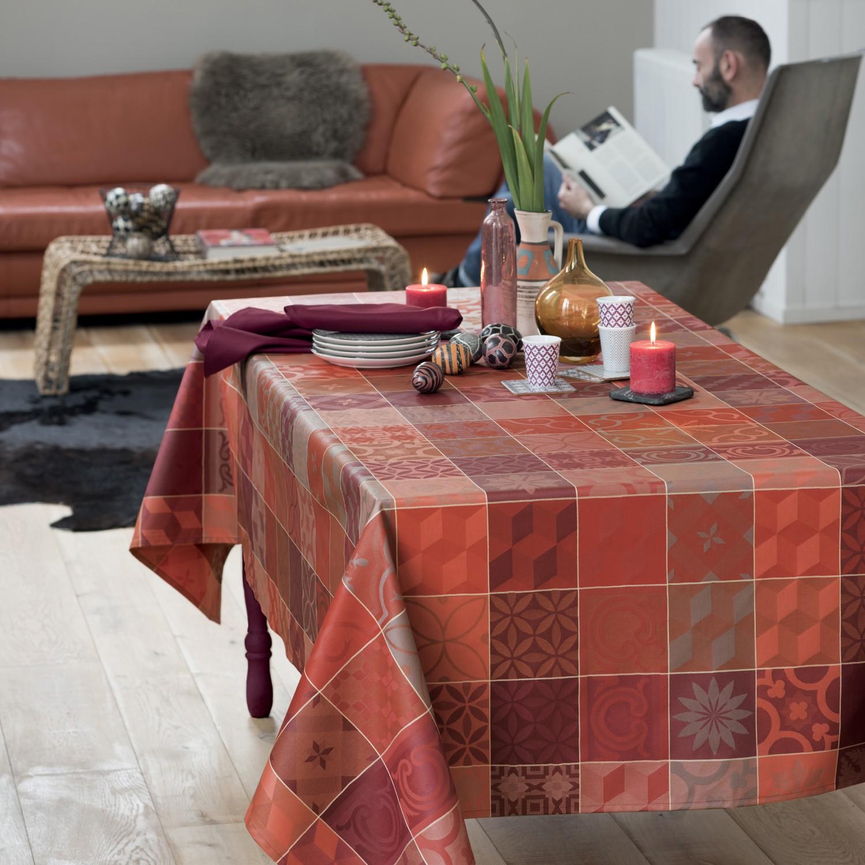 nappe ronde 180 tissu enduit elegant nappe ronde coton. Black Bedroom Furniture Sets. Home Design Ideas