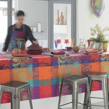 Nappe coton enduit Mille Tornades pop Garnier-Thiébaut