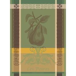 Torchons Poires Vert, Garnier-Thiébaut