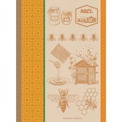 Torchons Miel et abeilles Ocre, Garnier-Thiébaut