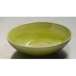 Assiette pasta Tourron vert tilleul