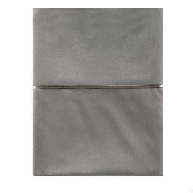 satin de coton drap plat drap uni linge de lit haut de gamme. Black Bedroom Furniture Sets. Home Design Ideas