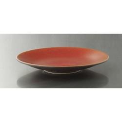 Assiette plate Tourron orange