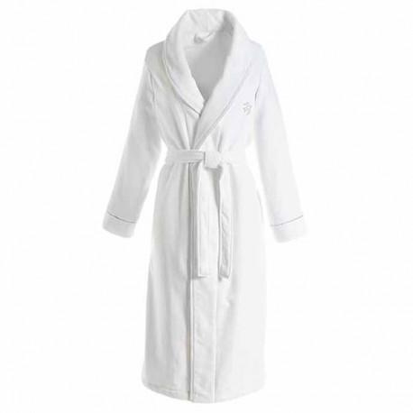 peignoir de bain femme luxe blanc linge de bain haut de gamme. Black Bedroom Furniture Sets. Home Design Ideas