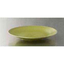 Assiette plate Tourron vert tilleul
