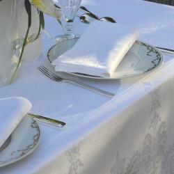 Nappe et serviettes de table Beauregard Blanc Garnier-Thiébaut