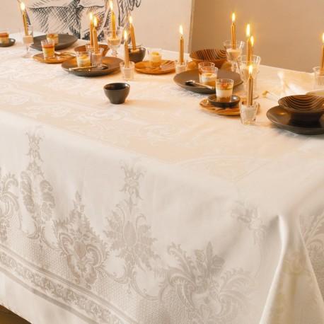 Nappe de table Beauregard ivoire Garnier-Thiébaut