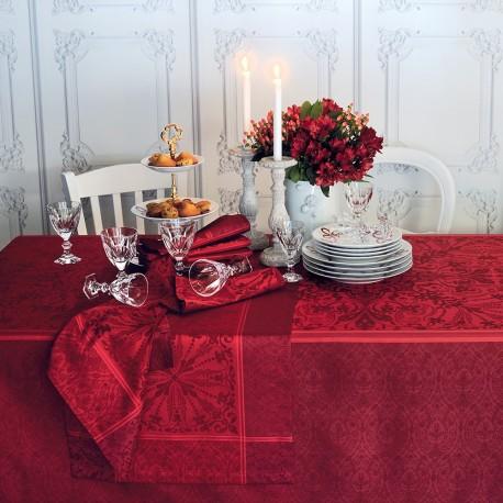 nappe de table anti tache style renaissance rouge haut de gamme. Black Bedroom Furniture Sets. Home Design Ideas