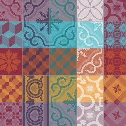 Serviettes de table Mille Tiles Multicolore