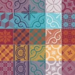 Petit Carré déco Mille Tiles Multicolore