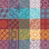 Tissu sur mesure Mille Tiles Multicolore