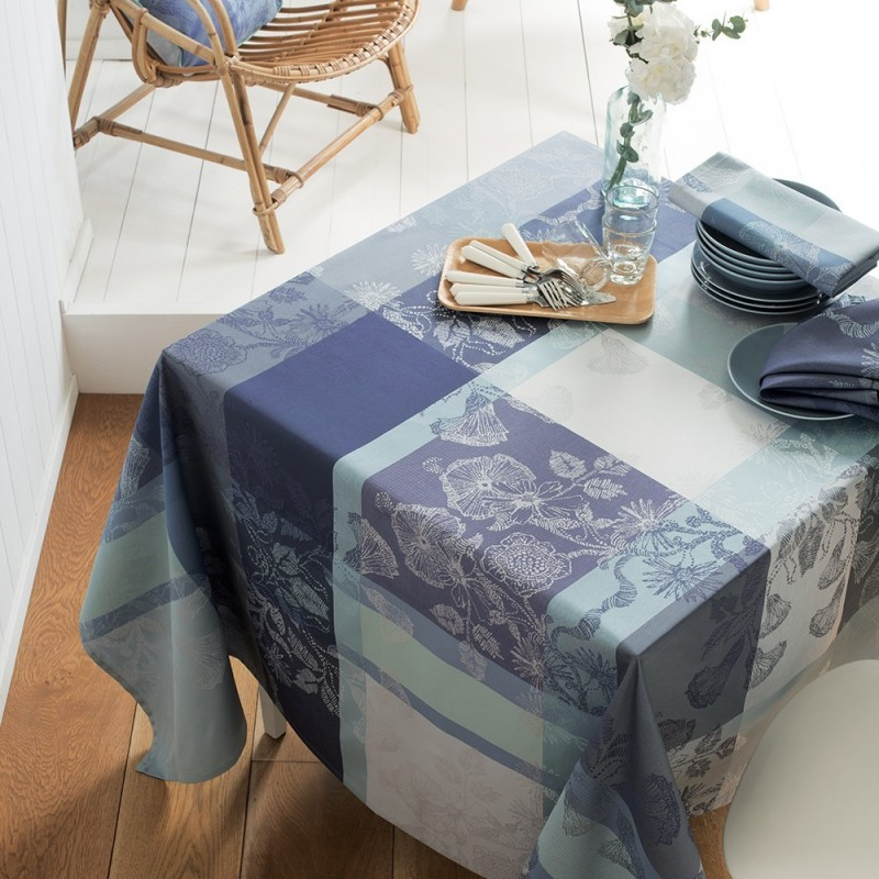 nappe de table jardin campagne chic bleu nappes haut. Black Bedroom Furniture Sets. Home Design Ideas