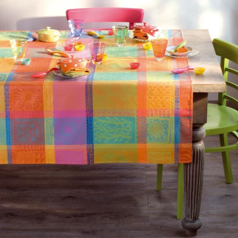 coton enduit nappe cr ole jardin. Black Bedroom Furniture Sets. Home Design Ideas
