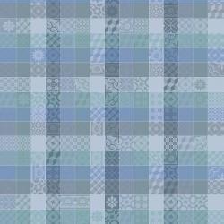 Tissu Mille Tiles Bleu lagon