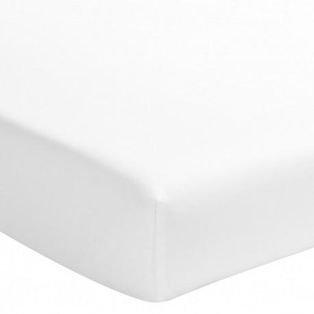 Drap housse uni en satin de coton Noho Blanc, Designers Guild