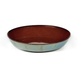 Assiette creuse 17.5 cm Terres de rêves Rust/Smokey blue, Anita Le Grelle