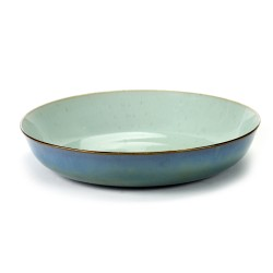 Assiette creuse 21 cm Terres de rêves Light blue/Smokey blue, Anita Le Grelle