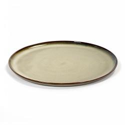 Assiette plate 26 cm Terres de rêves Misty grey, Anita Le Grelle