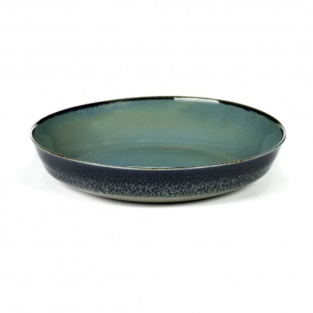 Assiette creuse 17.5 cm Terres de rêves Blue grey/Dark blue, Anita Le Grelle