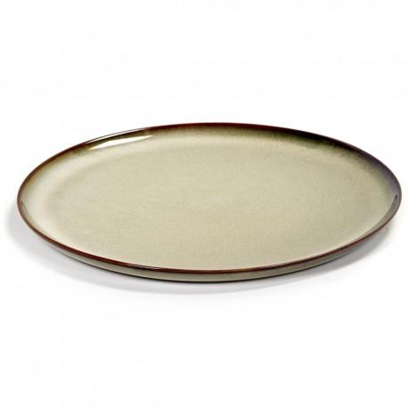 Assiette dessert 22 cm Terres de rêves Misty grey, Anita Le Grelle