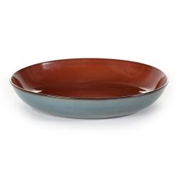 Assiette pasta Terres de Rêves Rust/Smokey blue, vaisselle design Serax par Anita Le Grelle