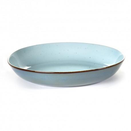 Assiette pasta Terres de Rêves Light blue/Smokey blue, vaisselle design Serax par Anita Le Grelle