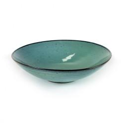 Assiette creuse 23cm grès émaillé Aqua Turquoise, Serax