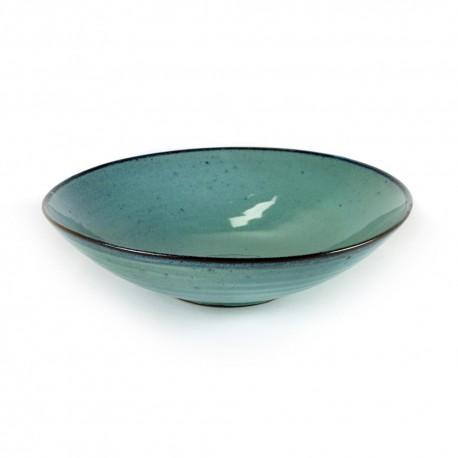 Assiettes originales creusse 23 cm grès émaillé Aqua Turquoise, Serax