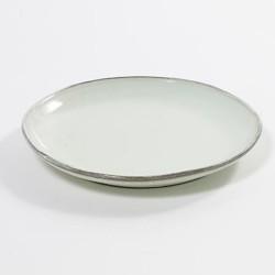 Assiette 22 cm grès émaillé Aqua Celadon, Serax