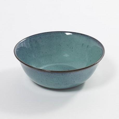 Bol saladier individuel 18cm grès émaillé Aqua Turquoise, Serax