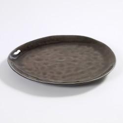 Assiette ovale 28 x 24 cm céramique Pure Brun, Serax par Pascale Naessens