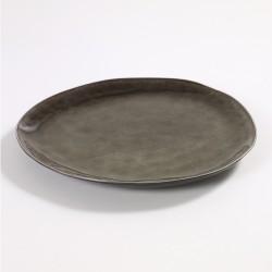 Assiette ovale 28 x 24 cm céramique Pure Gris, Serax par Pascale Naessens