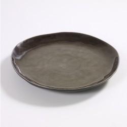 Assiette ronde 28 cm céramique Pure Gris, Serax par Pascale Naessens